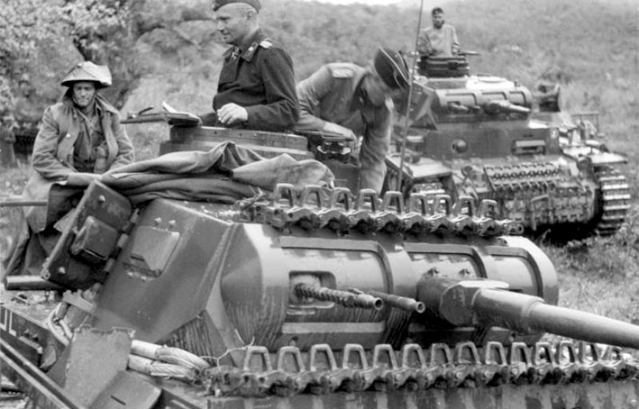 German Panzer III tanks during the Battle of Greece