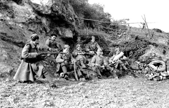 Greek soldiers resting