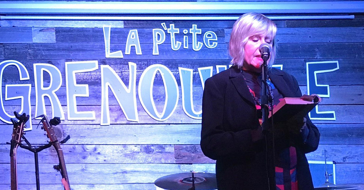Irena Karafilly Reading at Guernica's Montreal Book Launch